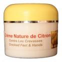 Crème argan au citron pour les crevasses des mains et pieds